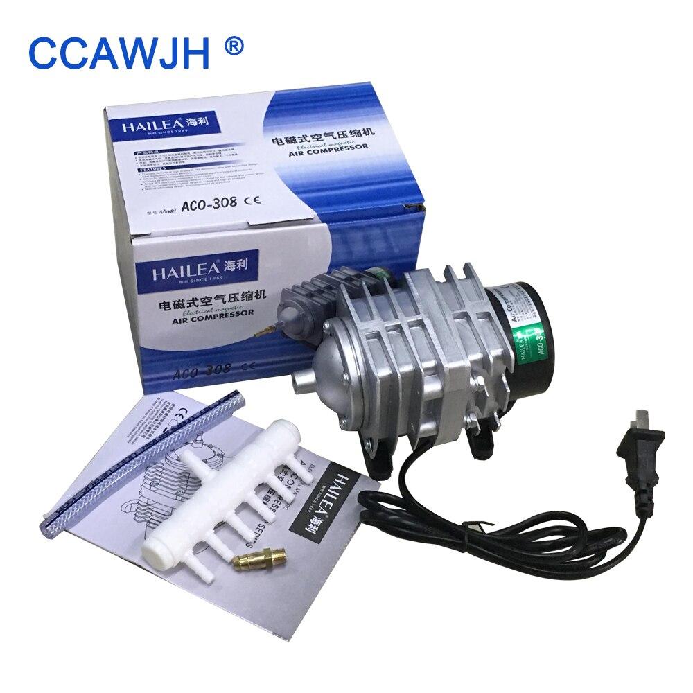 ACO308 55L min 30W Electrical Magnetic Air Compressor For Aquarium and Tube Ozone Generator 1pc Starts