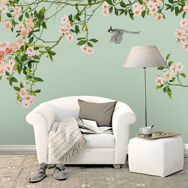 Elegant Photo Wallpaper Custom 3D Wallpaper Flowers And Birds Wall Murals  Art Room Decor Kids Bedroom Livingroom Colorful Summer In Wallpapers From  Home ...