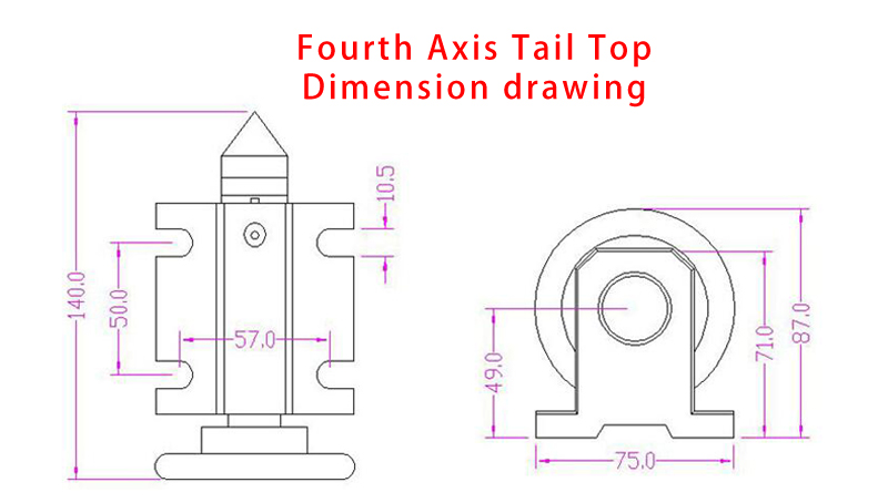 column type cnc 6040 2.2KW metal engraving machine   (5)