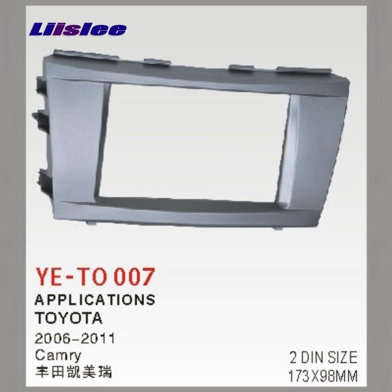 Liislee 2 DIN Frame Panel Fascia For Toyota Camry XV40 2006~2011 Aftermarket Car Stereo Radio DVD Player GPS Navi Installation