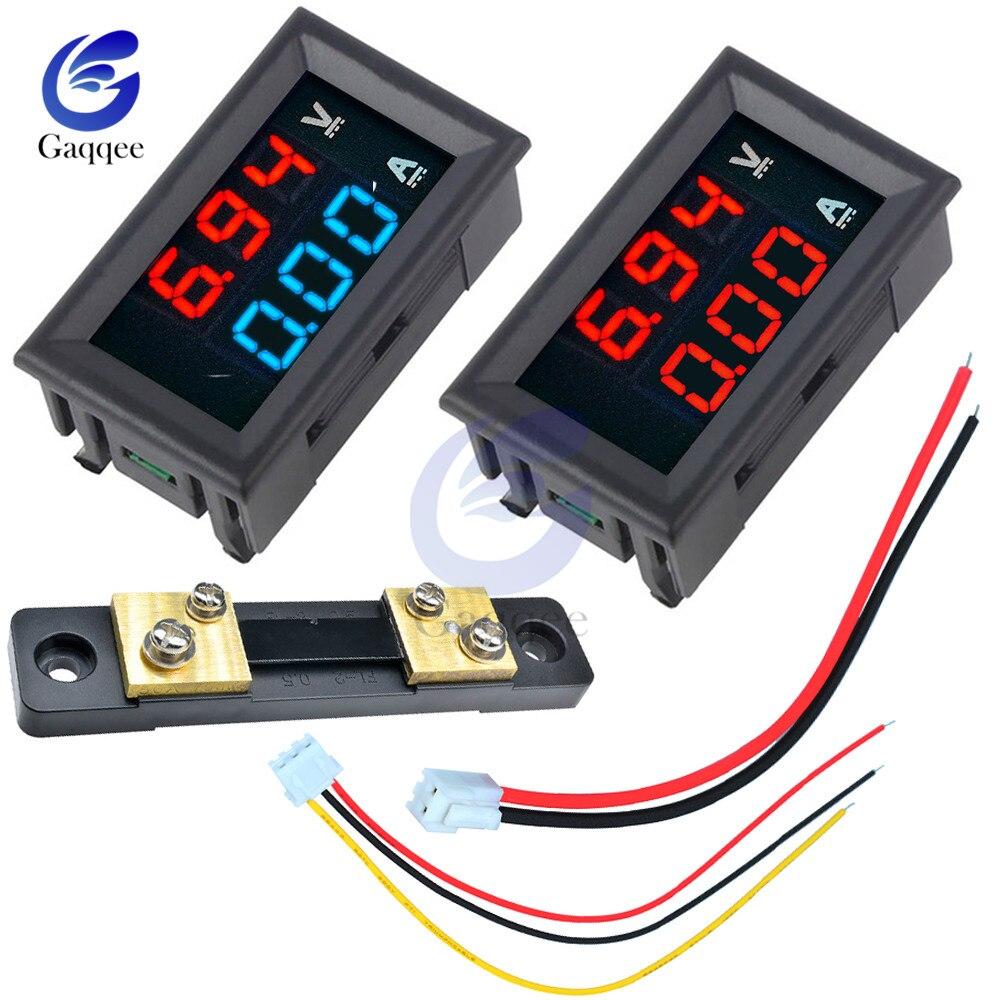 Мини цифровой вольтметр Амперметр постоянного тока 0-100 в/постоянного тока 7-110 В 50A Панель Ампер Вольт измеритель напряжения тестер 0,28