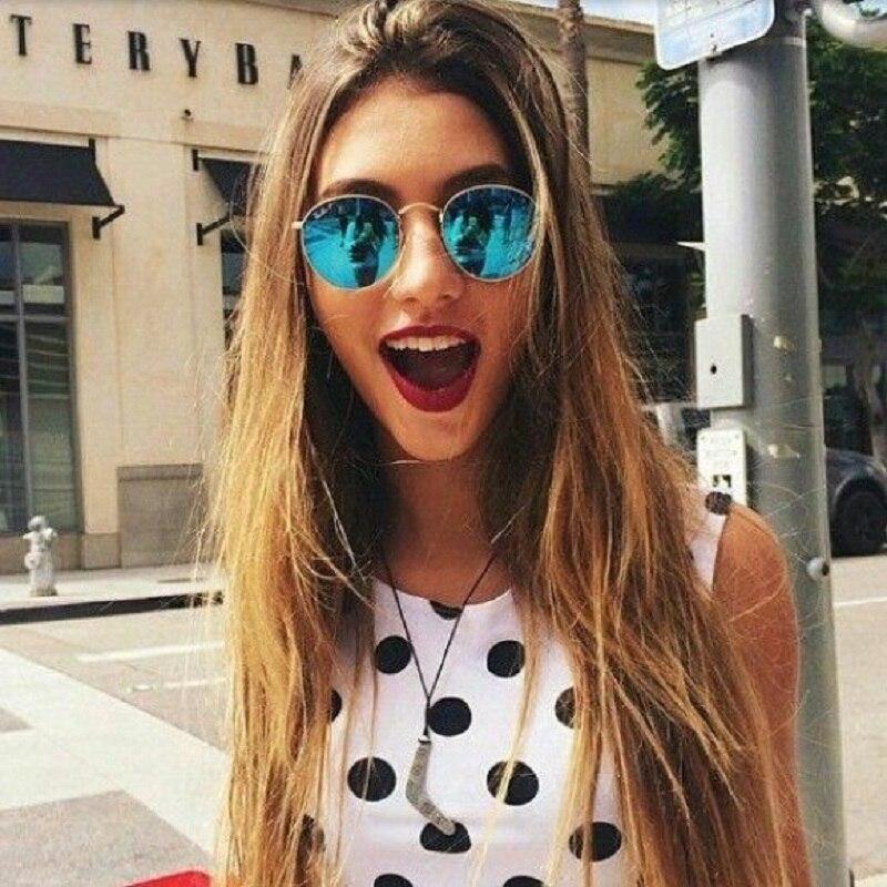 TESIA Polarized Sunglasses Women Brand Designer Vintage Round Sunglasses Quality Mirror Glasses Female Cloth T447