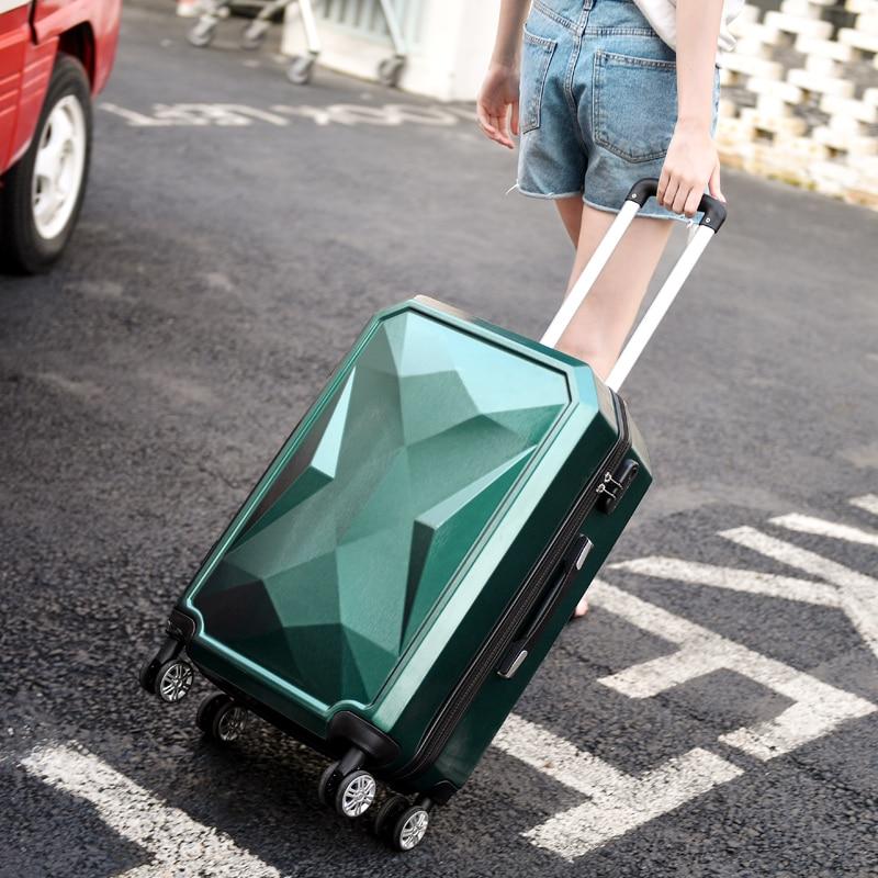 Nouvelle mode 20/24 pouces valise d'embarquement chariot ABS + PC coloré voyage étanche bagages Set valise à roulettes Spinner boîte