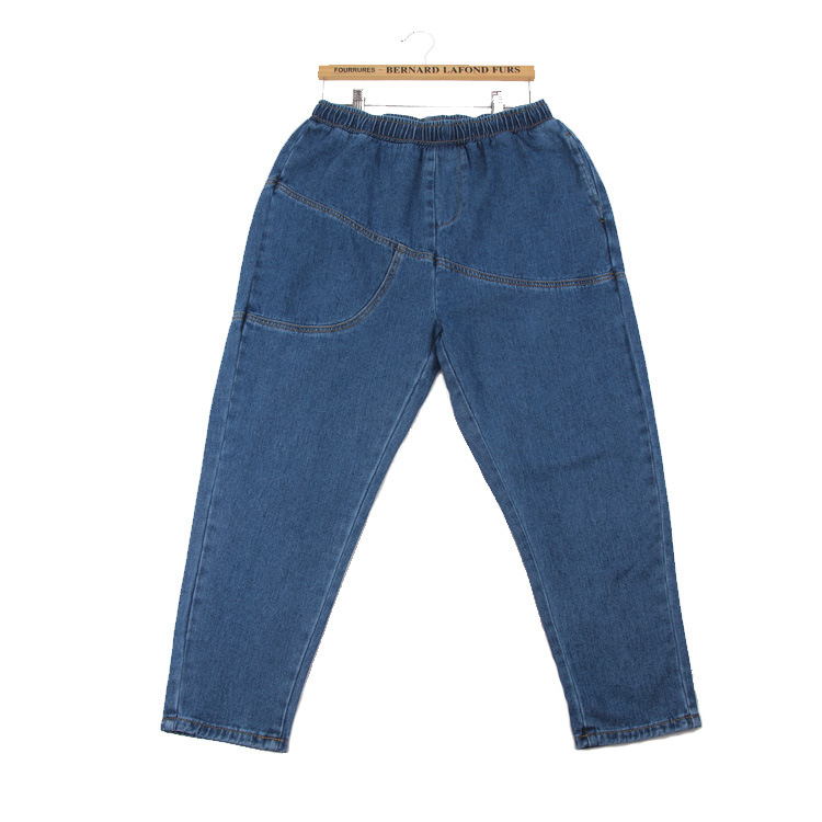 Freies verschiffen 2018 Neue Slim Bleistift Hose Vintage Hohe Taille Jeans neue frauen hosen voller länge hosen lose cowboy 1FH001-017