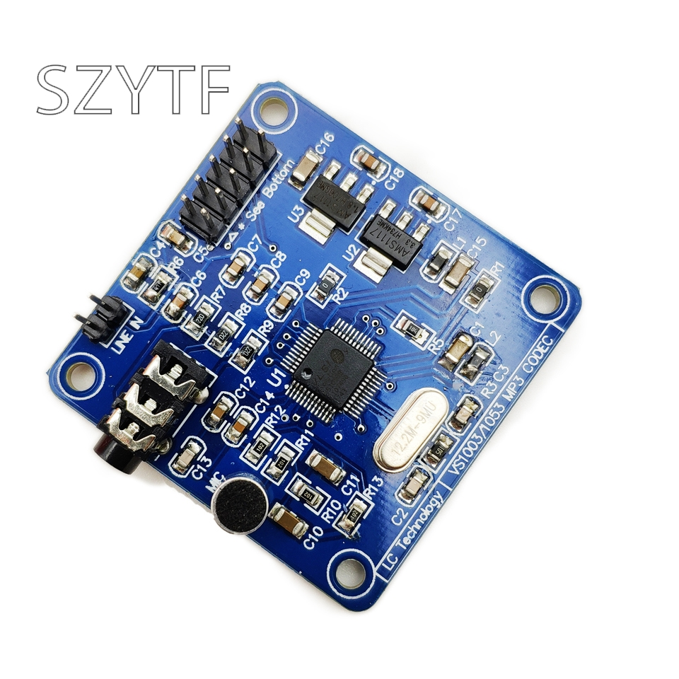 VS1003B VS1053 MP3 decoding module, microphone head, STM32 microcontroller development board accessories image