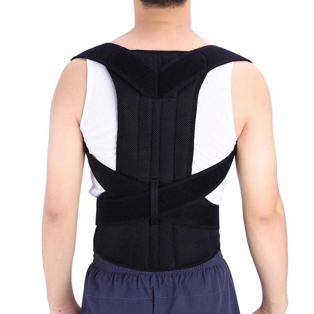 Body Shaper Back Posture Corrector Adjustable Adult Corset Back Shoulder Lumbar Brace Spine Clavicle Support Belt For Men Women