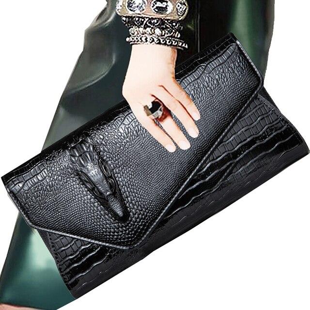 f8ad7b713 Bolso de mujer de diseñador de marca famosa estilo europeo patrón de cocodrilo  bolso de cuero