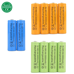 Mix colors 10pcs aa 3000mah rechargeable battery aa ni mh 1 2v rechargeable 2a power baterias.jpg 250x250