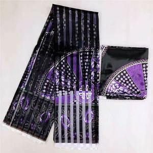 Image 5 - Heißer verkauf Ghana Stil satin seide stoff mit organza band Afrikanischen wachs design! J52602