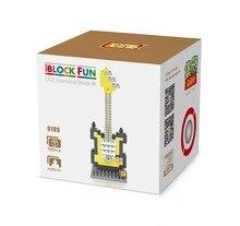 LOZ 9193 Musical Instruments Yellow Electric Guitar Educational Diamond Bricks Minifigures Building Block Compatible with Legoe