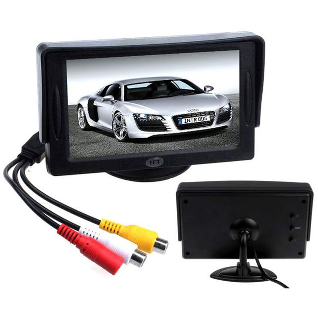 Chegada nova Estilo Clássico Para A Frente Do Carro 4.3 'TFT LCD Monitor de Retrovisor DVD GPS Câmera Reversa De Backup Veículo Condução acessórios