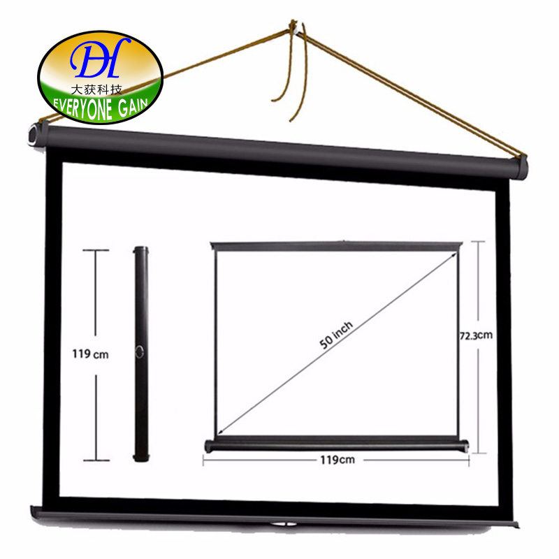 Everyone Gain Pantalla Proyector H50s 50inch 16:9 Projector Hd Screen Bracket Portable Folded With Used For Family Or Business h60x 2016 everyone gain 60 inches 16 9 projector hd screen portable folded pantalla proyector with frame convenient to carry