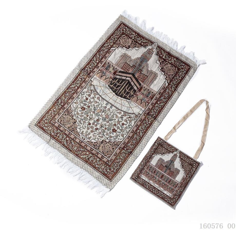 Image 5 - Cotton Yarn Muslim Prayer Rug Grey Rug for Living Room Kitchen  Rug Rectangle Small Carpet Indian Rugs Tassel Outdoor Tiles MatIslamic  Clothing