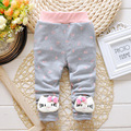 2016 Spring & Autumn New Baby Pants Cartoon Cat and Dot Pattern Cotton 1 Piece Sport Pants Baby Boy / Girls Pants 0-2 Year