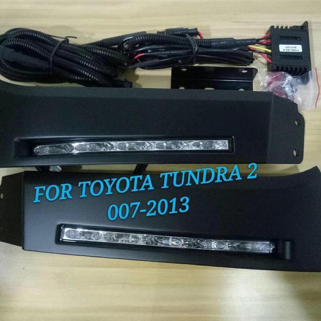EOsuns-feu de jour 2007 DRL | Interrupteur sans fil à commande, fonction de gradage, pour Toyota Tundra 2013 ~ et Sequoia