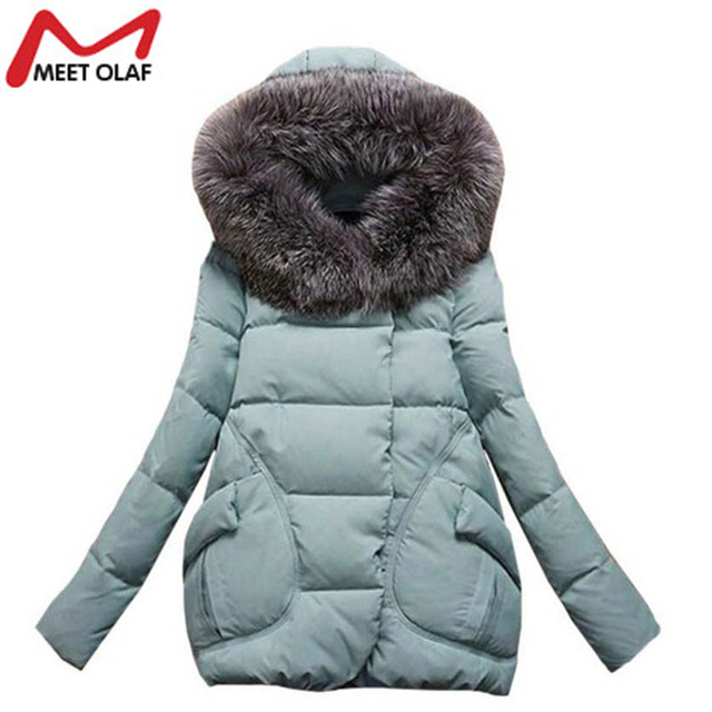 Winter Jacket Women Warm Wadded Female Parka Overcoat Hood Cotton Padded Coat Parkas Ladies Abrigos Mujer Jaqueta Feminin HL8028