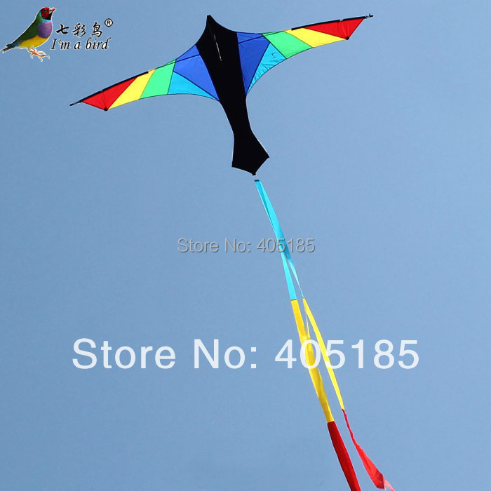 Free Shipping Outdoor Fun Sports 2.4m Firebird Power Kite with Flying Tools You Can Choose Two Colors Blue And Purple