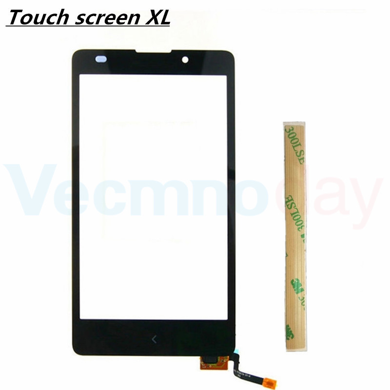Touchscreen Front Panel Digitizer For Nokia XL Dual Sim RM-1030 RM-1042 Touch Screen Sensor Glass Cover+3M Sticke