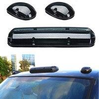 3Pcs Smoke Cab Roof Running Amber LED Lights for Chevy Silverado/GMC Sierra 2002 2003 2004 2005 2006 2007