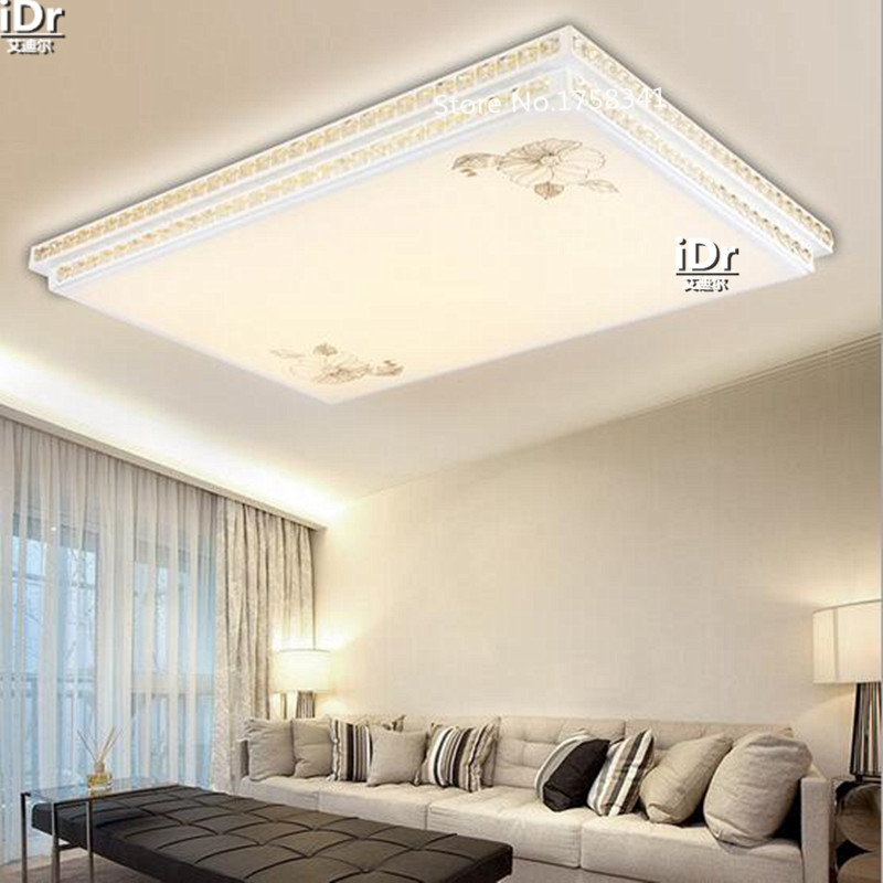 large room lighting. LED Rectangular Crystal Double Wrought Iron Lamps Large Master Bedroom Lamp Living Room Lights Ceiling Rmy 0499-in From Lighting M