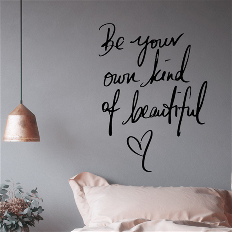 Black/Gold PVC Removable Quote Words Wall Stickers Self Adhesive Wall Window Decals Murals Home Deration 55x40cm/55x75cm