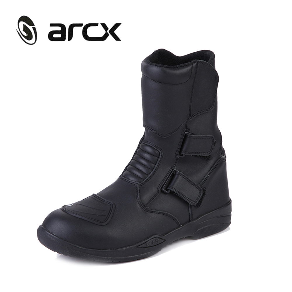 Motorcycle gloves cruiser - Arcx Genuine Cow Leather Motorcycle Riding Boots Waterproof Motorbike Chopper Cruiser Touring Street Moto Racing Mid