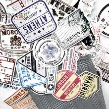 60 개/몫 레트로 여행 탑승권 항공 티켓 노트북 수하물 가방에 대 한 크리 에이 티브 가방 스티커 자전거 전화 자동차 스티커