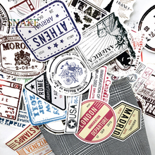 60pcs/lot Retro Traveling Boarding Pass Air Tickets creative Suitcase stickers for Laptop Luggage Bags Bike Phone car Sticker
