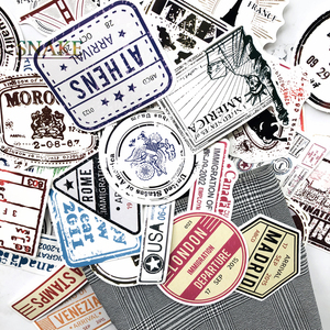 Image 1 - 60pcs/lot Retro Traveling Boarding Pass Air Tickets creative Suitcase stickers for Laptop Luggage Bags Bike Phone car Sticker