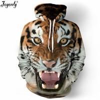 Joyonly Women Men 3D Hoodies Horse Cat Tiger Flash Galaxy Owl Eagle American Flag Brand Sweatshirt