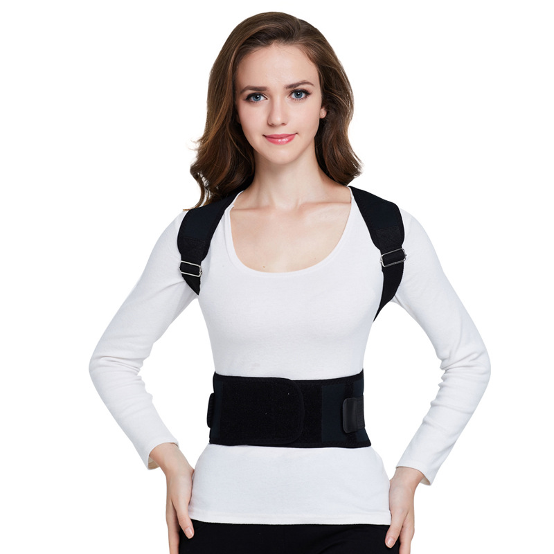 Adjustable Spine Posture Correctioin Magnetic Therapy Posture Support Brace Shoulder Back Corrector Belt for Adults
