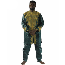 MD men's top pant set 2 pieces outfit suit african men clothes bazin african clothing for men 2019 dashiki shirt with trouser bazin riche men 2 pieces pants sets african clothes casual men jacquard pattern patchwork top shirt and pants sets wyn767