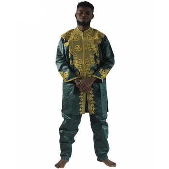 MD men's top pant set 2 pieces outfit suit african men clothes bazin african clothing for men 2019 dashiki shirt with trouser - DISCOUNT ITEM  43% OFF All Category
