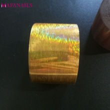 1 Roll Holographic Nail Foil 120M/Roll HOLO Gold Quality Nail Art Transfer Foil Sticker Manicure Nail Art Decoration XZ02-13