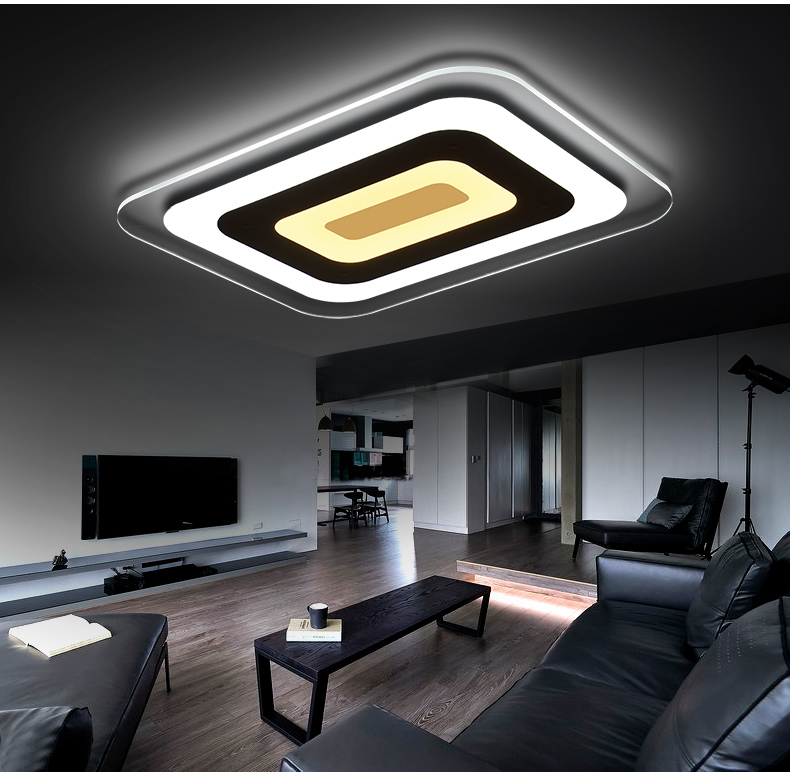 Ultra-thin acrylic LED ceiling lamp home living room bedroom study lighting business restaurant Ceiling lights 110-240V japanese tatami wood led ceiling lamp simple bedroom lamps ultra thin living room ceiling lights new restaurant indoor led lamp