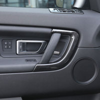 4pcs Replacement Parts ABS Wood Chrome Car Door Handle Trim Decoration For Land Rover Discovery Sport S Car Accessories 2015+