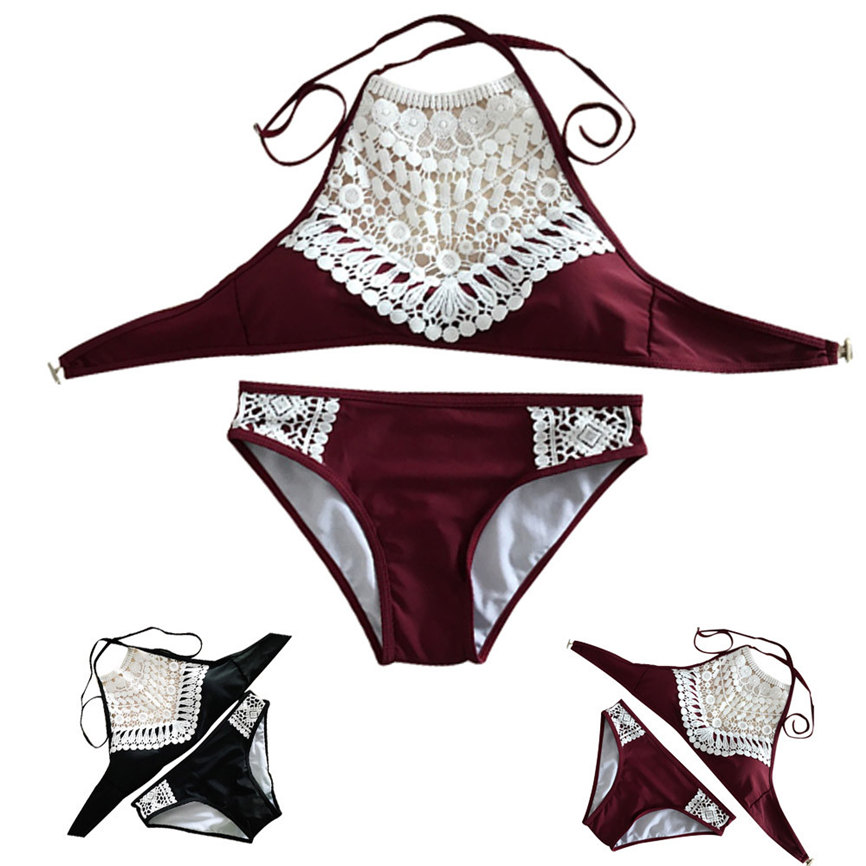 2018 Neue Bademode Sexy Frauen Sandy Strand Padded Push-up-bh Bh Sexy Bikini Badeanzug Set Strand Bademode S ~ Xl Dropshipping Kann #5 Angenehm Im Nachgeschmack