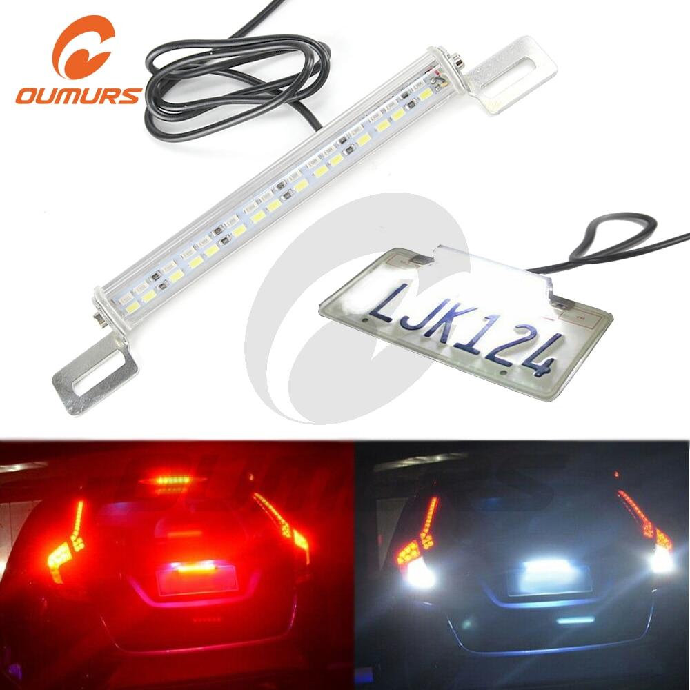 2x White//Red 30-SMD LED Lamps Dual-Color For License Plate,Reversing//Brake Light