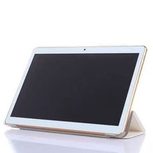 Caja de LA PU para Android 5.1 OS 10 pulgadas tablet pc Octa Core 4 GB RAM 32 GB ROM 8 Núcleos MTK8752 tablet