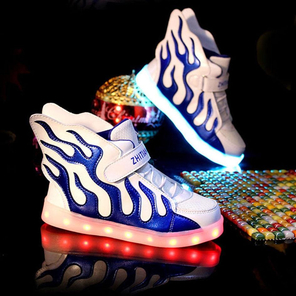 Kitiin 2017 Children Led Light Shoes Flame Boys Street