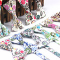 Fashion Mens Cotton Bowties Neck Tie Classical Formal Vintage Floral Flower Adjustable Bow Tie Tuxedo Necktie For Wedding Party