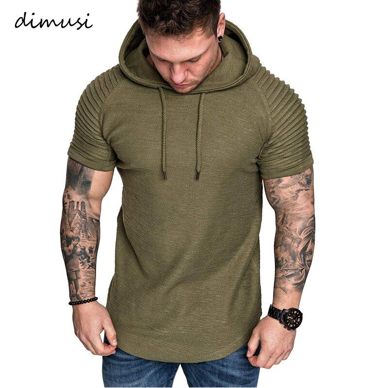 DIMUSI Summer Mens Hoodies Men Short Sleeve Hooded Sweatshirt Mens Hoodie Hip Hop Hoodies Streetwear Sportswear Tracksuit,YA800