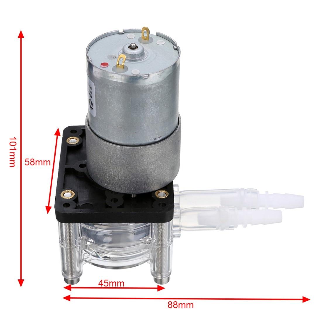 1 шт. DC 12 В большой поток дозирующий насос перистальтический головка насоса для вакуум Аквариум Лаборатория аналитического 400 мл/мин.