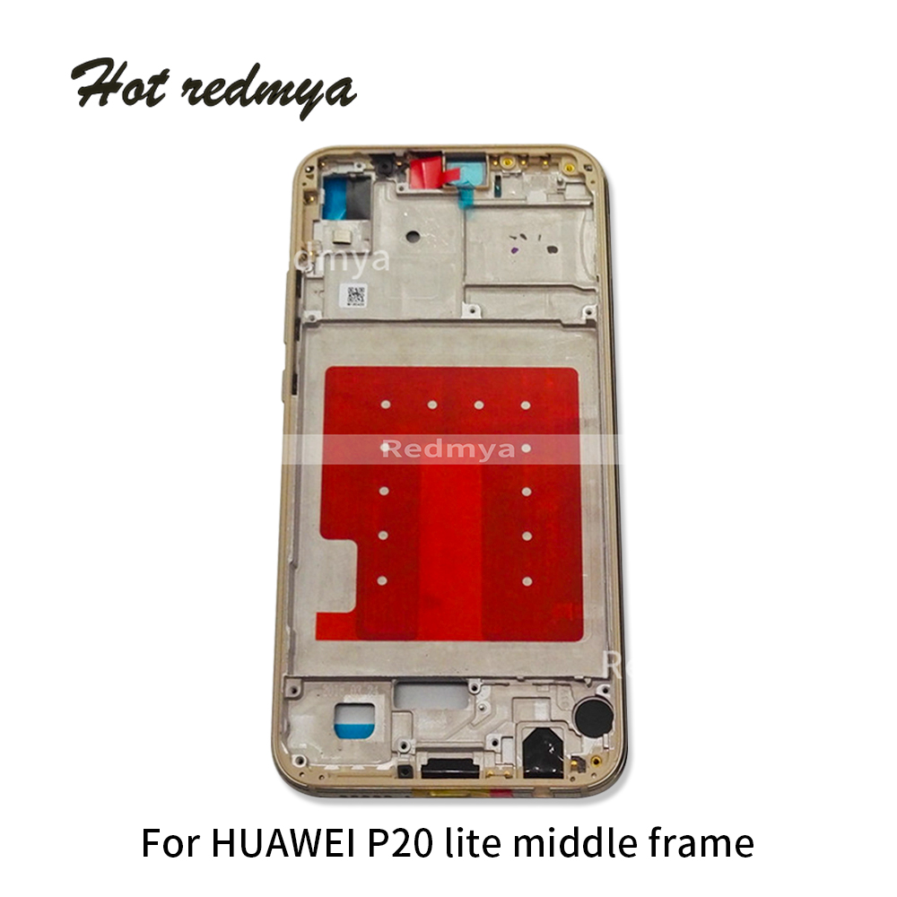Replacement For Huawei P20 lite Middle Frame Housing Cover For HUAWEI P20 lite Bezel Plate Chassis Battery Back cover With Tools in Mobile Phone Housings Frames from Cellphones Telecommunications