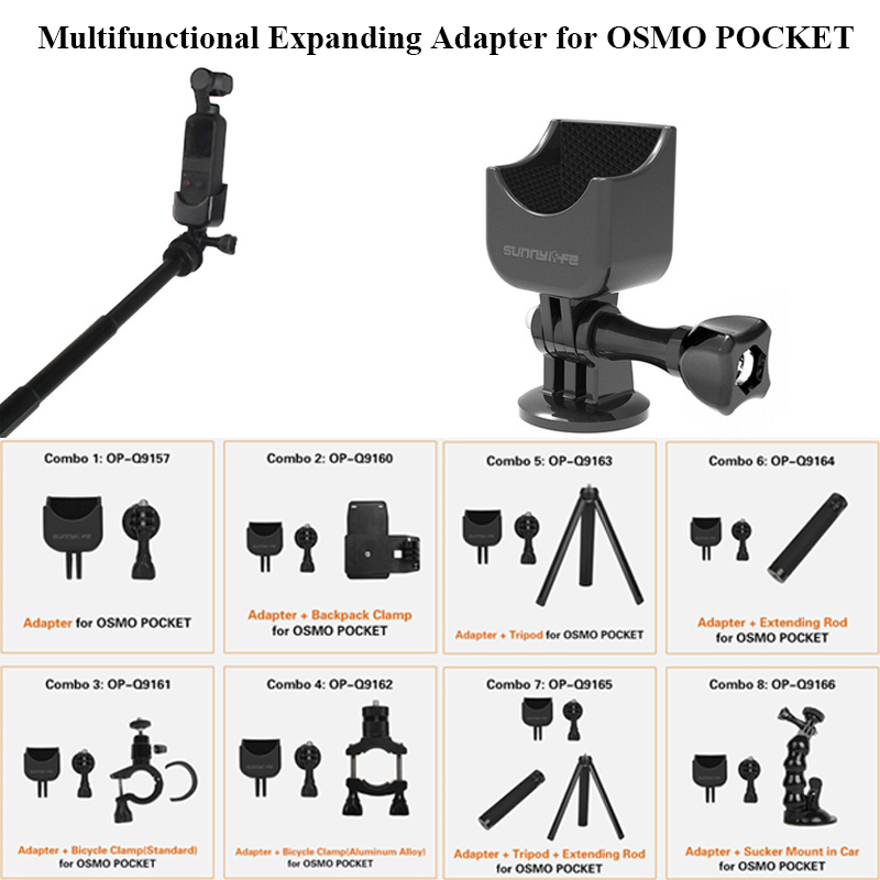 1/4 Adapter Multifunctional Expanding Switch Connection for DJI OSMO POCKET Handheld Gimbal Camera