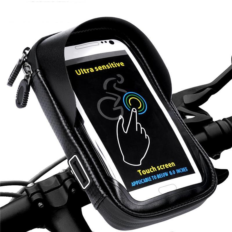 Soporte de teléfono Universal bicicleta de la motocicleta móvil soporte bolsa impermeable para iphone X 8 S8 S9 GPS soporte de bicicleta bolso manillar