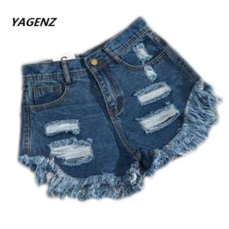 2019 Zomer Vrouw Jeans Shorts Snor Effect Vintage Gekrast Jean Korte Broek Gat Jeans Meisje Shorts Hoge Taille Femme Denim