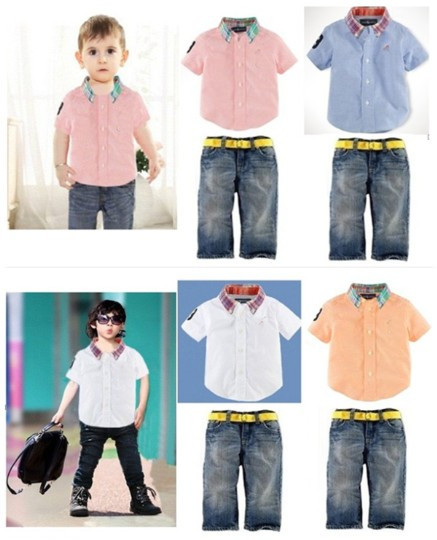 2014 Brand Name Children's wear baby boys polo shirt ...