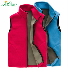 LoClimb Men Women Polar Fleece Hiking Vest Winter Outdoor Sleeveless Jacket Softshell Heated Ski Sports Vests Waistcoats,AM131