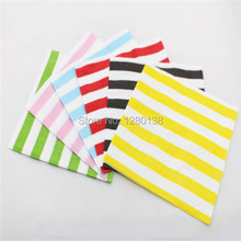 2000pcs(100packs) Disposable 2 PLY Paper Napkins Birthday Party Napkins Serviettes 33X33CM цена и фото